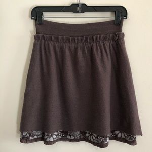 Anthropologie | Knitted & Knotted- Wool Skirt- S